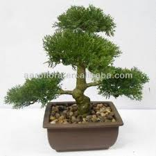potted green bonsai tree mini table artificial plant made of