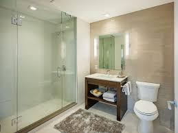 modern 3 4 bathroom with frameless showerdoor u0026 limestone counters