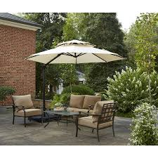 Large Rectangular Patio Umbrellas by Garden Garden Treasures Patio Umbrella With Fascinating Treasure