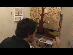 lesson how to paint a gustav klimt gold leaf inspired tree