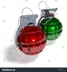 hand grenade shaped christmas tree balls stock illustration