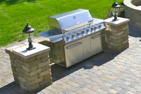 Patio Barbecue Designs Slide In Grill Stations Hardscape Accessories For Your Patio