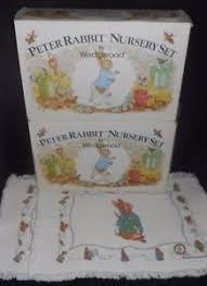 wedgwood rabbit nursery set 2 vintage rabbit nursery sets wedgewood beatrix potter plate