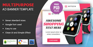 cool hitech multipurpose html five animated google banner ad