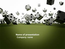 dice in game powerpoint template backgrounds 03923