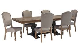 Our Dining Room Table We Swapped The Chairs Out For Different - Ashley furniture dining table images
