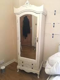 wardrobes french style shabby chic single mirrored wardrobe