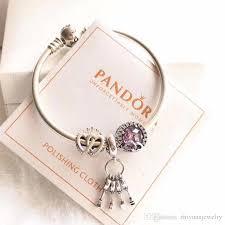 charm bracelet jewelry images New arrival 2018 pandora regal key hearts charm bracelets 925 jpg