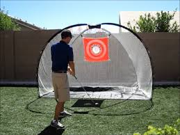 Golf Net For Backyard by Backyard Golf Practice Net Youtube
