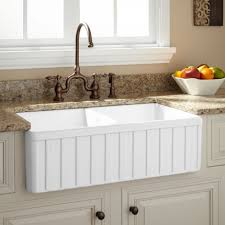 Farmhouse Sinks Apron Front Sinks Signature Hardware - Apron kitchen sinks