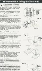 Overhead Door Garage Door Openers by Overhead Door Remote Programming Instructions Newdecordesign
