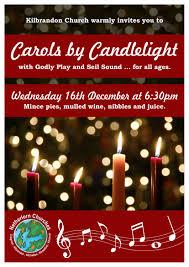 Christmas Carols Invitation Cards Carols By Candlelight In Kilbrandon U2013 16 December 6 30pm