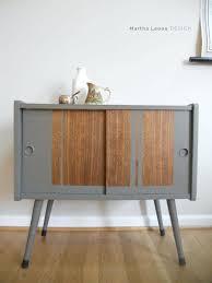 mid century record cabinet vintage record cabinet gray and raw wood mid century record cabinet