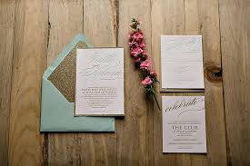 mint wedding invitations real wedding mint gold glitter wedding invitations faith
