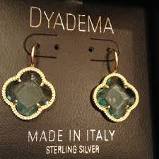 dyadema earrings 24 dyadema jewelry dyadema sterling silver 925 clover