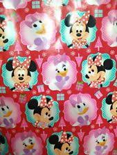 minnie mouse christmas wrapping paper christmas minnie mouse wrapping paper ebay