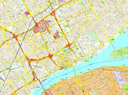 map usa detroit detroit map eps illustrator vector city maps usa america eps