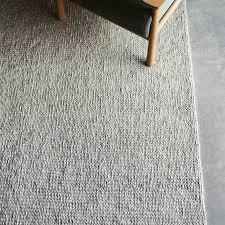 wool rug and co designer sierra weave wool rug light grey pumice
