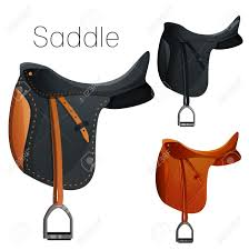 horse saddle set of equestrian equipment for horse saddle bridle stirrup