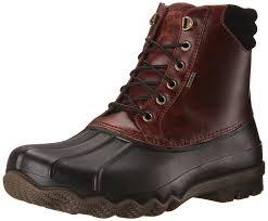Duck Boots Mens Fashion Amazon Com Sperry Top Sider Men U0027s Avenue Duck Boot Chukka Boot