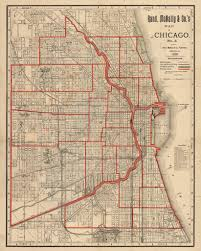 Map Of Chicago Illinois by Antique Map Of Chicago By Rand Mcnally 1890 Hjbmaps Com