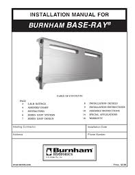 burnham base ray 81441001r8 3 06 user u0027s manual