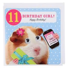 pig phone 11th birthday card