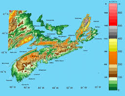 Italy On A Map by Nova Scotia Elevation Map Nova Scotia U2022 Mappery