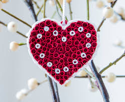 heart ornament christmas decor christmas ornament paper