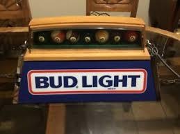 bud light pool table light vintage 1983 bud light pool table light pool balls man cave bar ebay