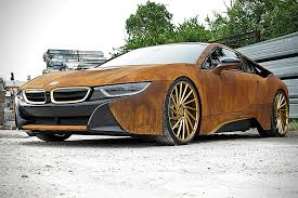 bmw i8 gold bmw i8 rust wrap custom by metrowrapz hiconsumption