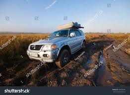 mitsubishi outlander sport off road priamursky russia october 5 2014 mitsubishi stock photo 330254381