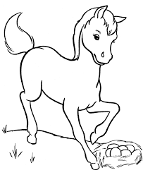 coloring breathtaking foal coloring pages horse eating