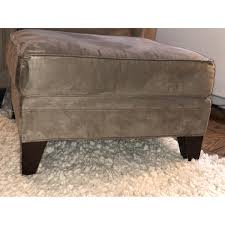 Mitchell Gold Leather Ottoman Mitchell Gold Bob Williams Grey Taupe Microsuede Aptdeco