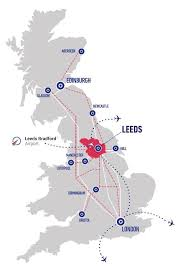 map uk leeds ideally located