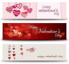 happy valentines day banner valentines day clip valentines banners vector graphic