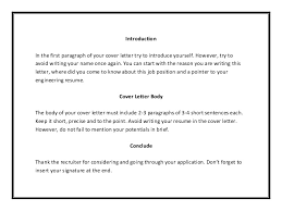 letter of introduction for job 2 the cover letter job application