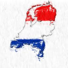 netherlands map flag netherlands painted flag map photograph by antony mcaulay