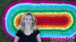 Red Oval Rug Diy Tutorial How To Crochet Oval Rag Rug Floor Carpet From