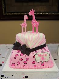 pink safari themed cake baby shower cakes pinterest cake