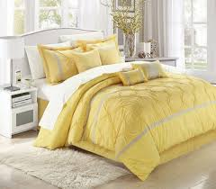 gray and yellow bedroom walls steel base be equipped square white