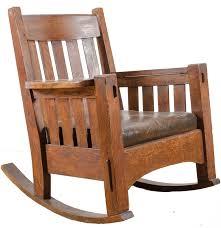 Mission Oak Rocking Chair Vintage Arts And Crafts Oak Rocking Chair Ebth