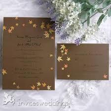 fall wedding invitations maple wedding invitations invitesweddings