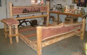 red cedar bed red cedar queen size bed with routed headboard