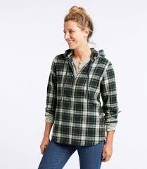 scotch plaid shirt relaxed zip hoodie