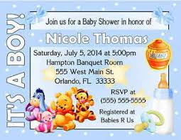 winnie the pooh baby shower invitations 20 winnie the pooh baby shower invitations it s a boy design ebay