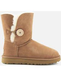 ugg australia noira chestnut sheepskin lyst ugg noira sheepskin lined leather boots in brown