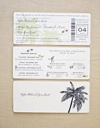 Invitation Card Standard Size Boarding Pass Invitation Suite U2013 Laura Hooper Calligraphy
