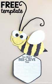 creative writing paper template bee craft template insect crafts bee crafts and hallway displays bee craft template