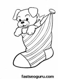printable puppy christmas stockings coloring pages printable